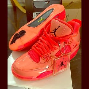 Air Jordan retro 4 hot punch /black